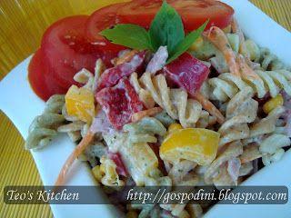 Salata de paste cu sos tzatziki | Retete usoare & retete ilustrate