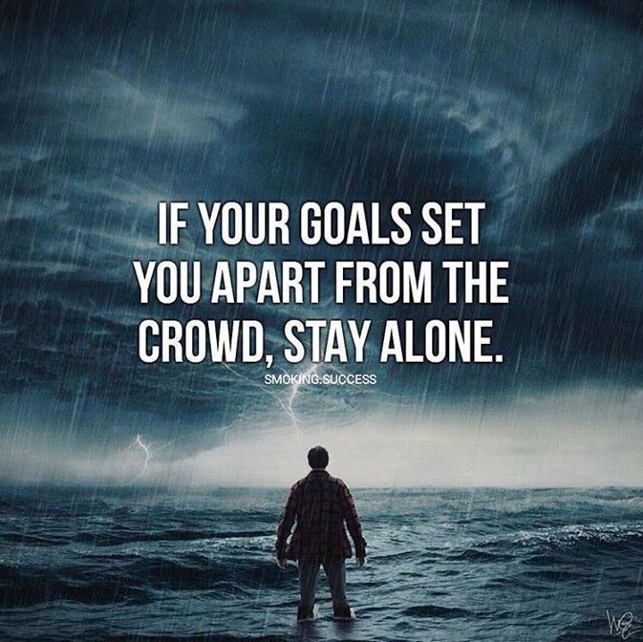 Apart From: If Your Goals Set You Apart..