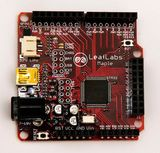 An Arduino-compatible microcontroller board with a 72MHz 32bit ARM Cortex M3