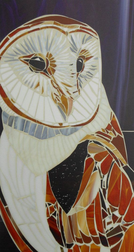 Hey, I found this really awesome Etsy listing at https://www.etsy.com/listing/152804662/barn-owl-mosaic-print-limited-edition