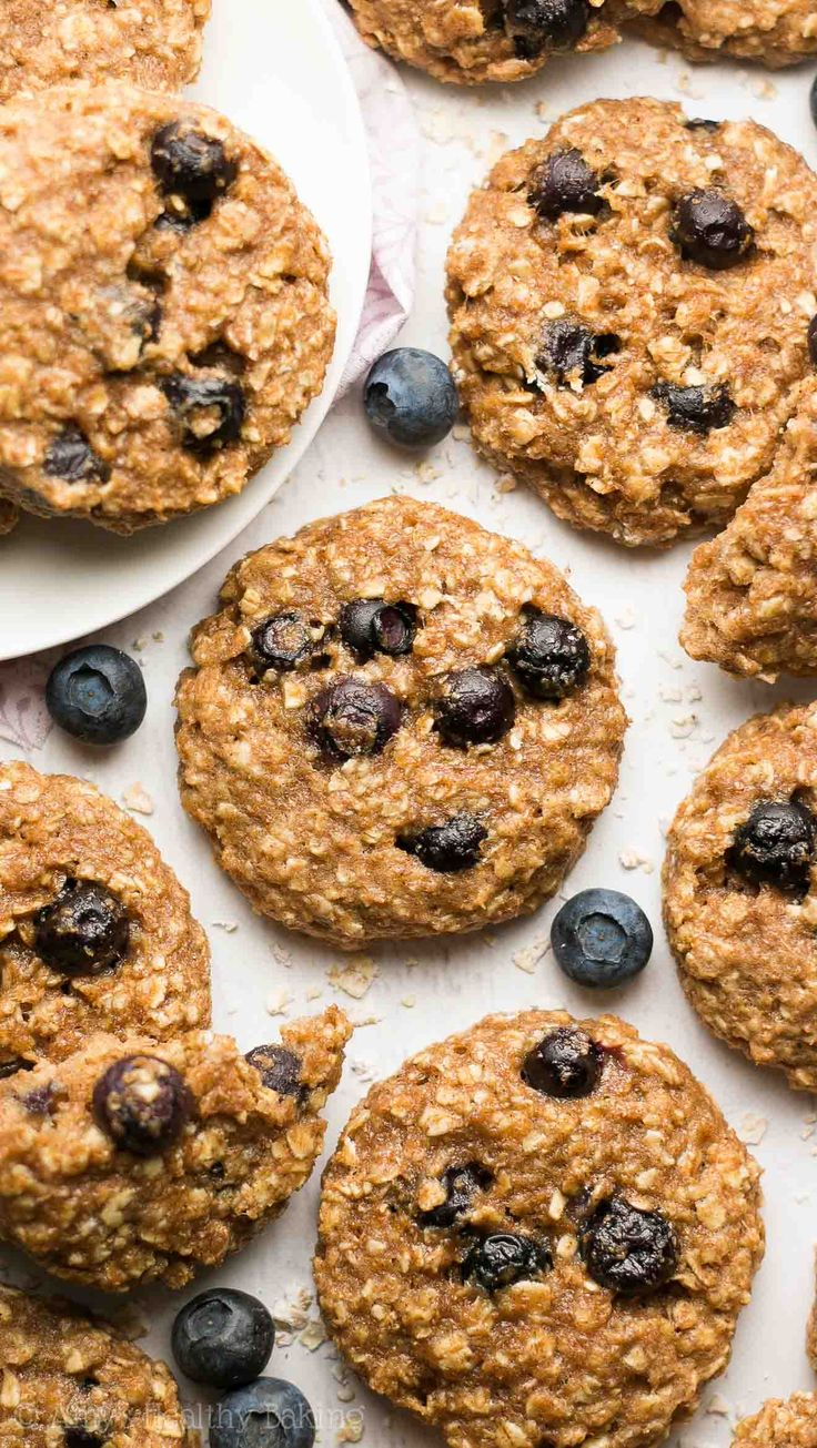 Healthy Blueberry Oatmeal Breakfast Cookies