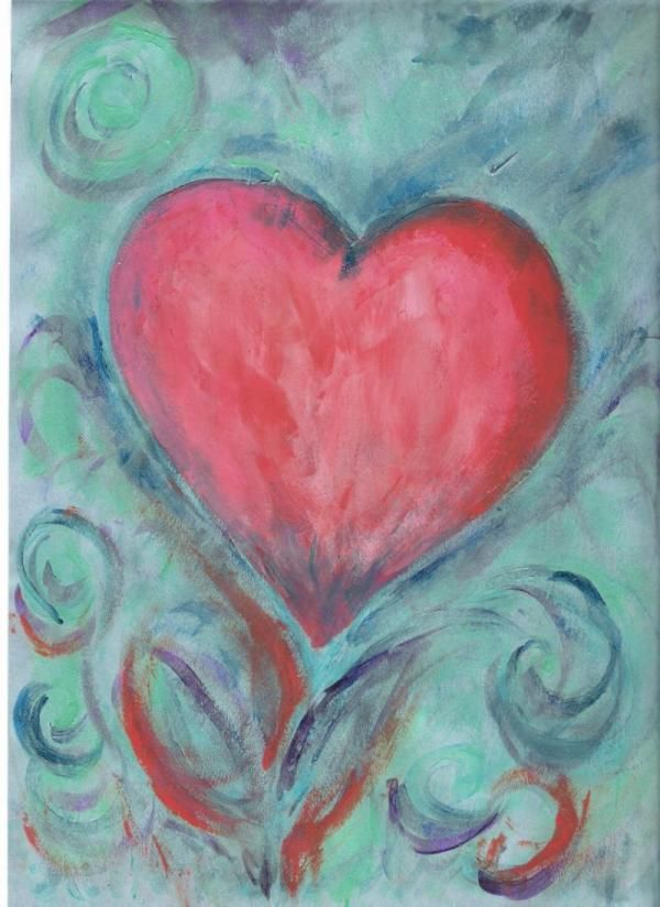 Happy Valentine's Day from L'Arche International. Drawing from L'Arche Comox