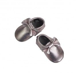 Ice Pink Bow Moccs 14cm