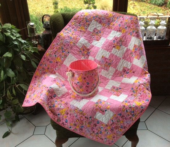 The 1570 best handmade quilts and gifts images on pinterest quilt reduced price pink patchwork quilt and tubhandmadeftby showery bucketquilted totequilted toy tub comforter girls quilt negle Choice Image