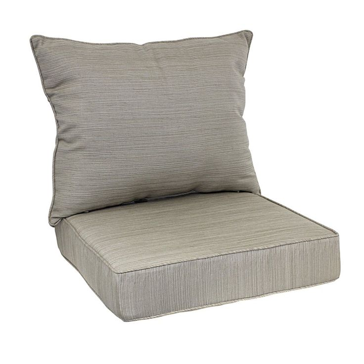 Allen + Roth 2 Piece Natural Deep Seating Chair Cushion Set