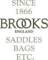 SINCE 1866 BROOKS ENGLAND SADDLES, BAGS, ETC./// lovely bikes (like the one in that pic!!)