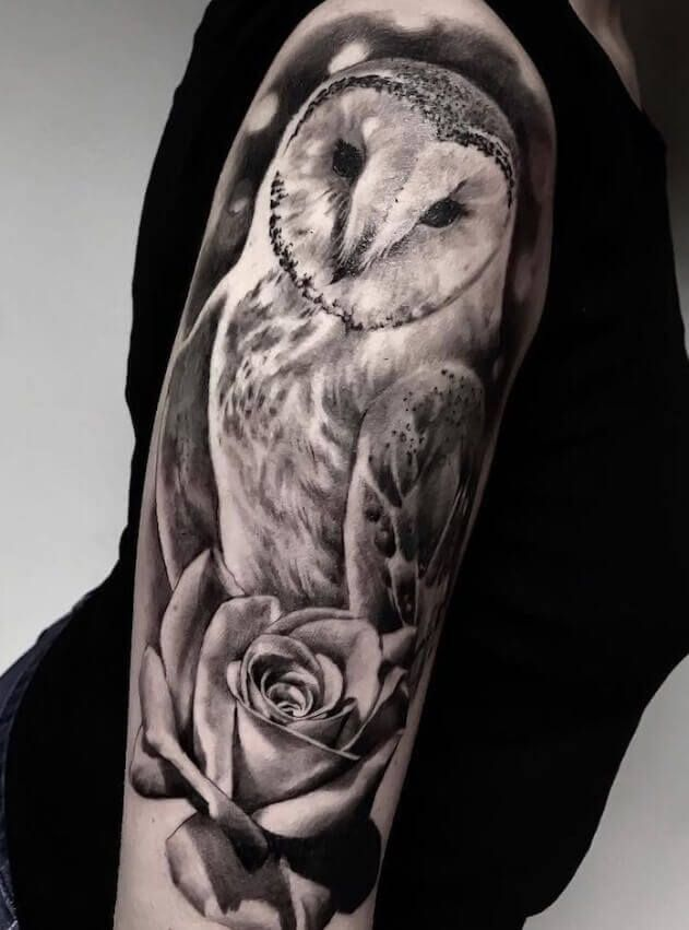 10 Best White Owl Tattoo Ideas Petpress In 2020 White Owl Tattoo Realistic Owl Tattoo Sketch Tattoo Design