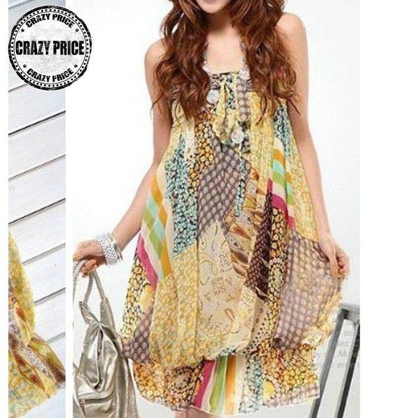 Zigeunerstil Chiffon Kleid