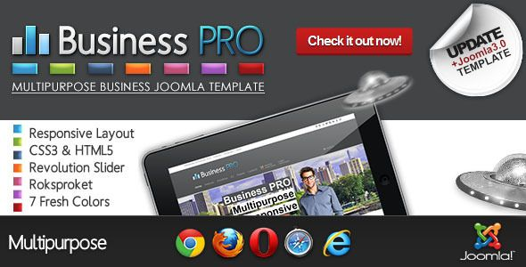 Business Pro - Clean Responsive Joomla Template. In february 2013 ... and so it all began...