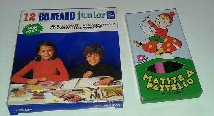 ANNI 70 boreado junior 12 matite colorate-matite a pastello 6 colori vintage