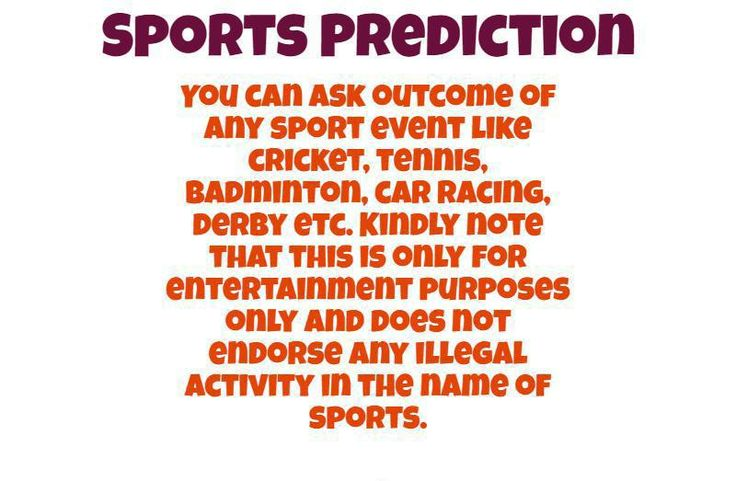 Get 2016 sports predictions related to cricket,badminton, football, ipl etc at very low cost.