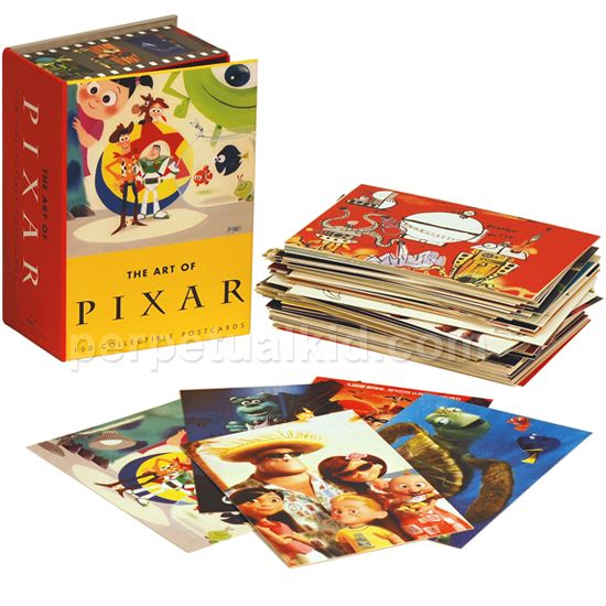 Check out The Art of Pixar Postcards to enjoy all the collectible movie art.  Including pictures or sketches from every movie and short film that Pixar did between 1985 and 2005!