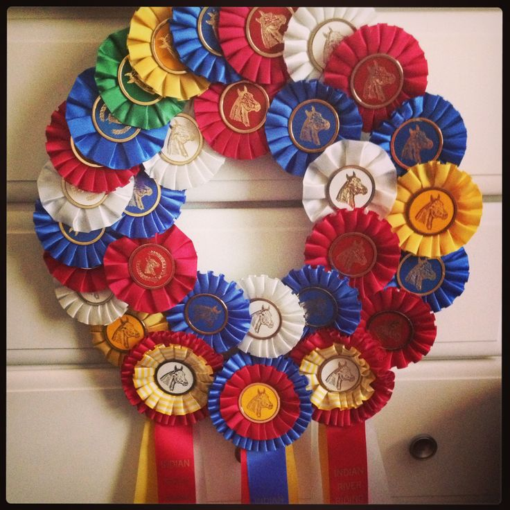 Horse show ribbon wreath