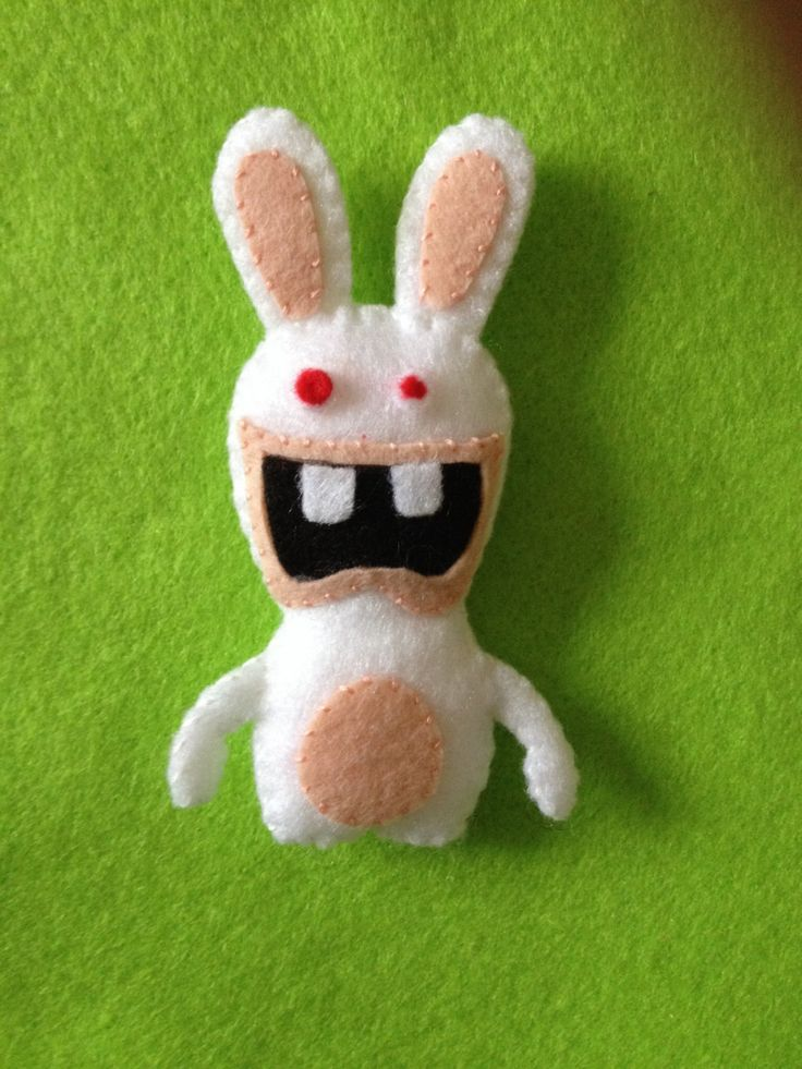 Rayman Rabbid by FeltforAdults on Etsy