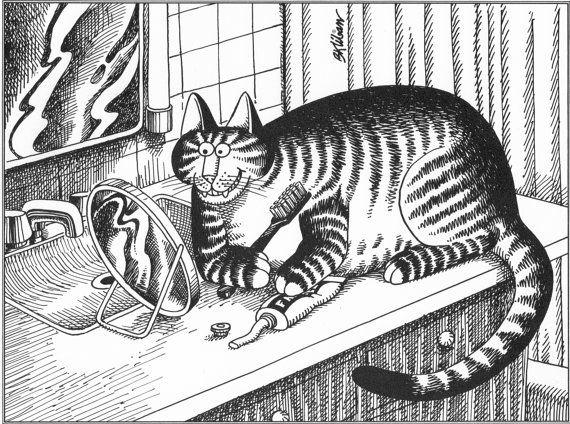 B Kliban Cat Original Vintage Art Print By RockPaperNScissors