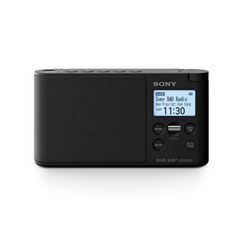 cool Sony XDRS41DB.EU8 - Radio portátil digital (DAB/DAB+/FM, altavoz, 5 presintonías digitales y 5 analógicas, pantalla LCD, temporizador, adaptador CA) negro