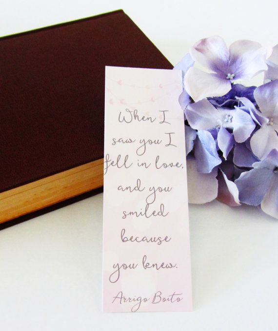 Unique Wedding Favor  Love Quote  Arrigo Boito by InkyBitsDesigns