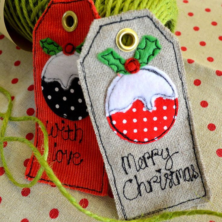 christmas pudding personalised tags by sew very english | notonthehighstreet.com