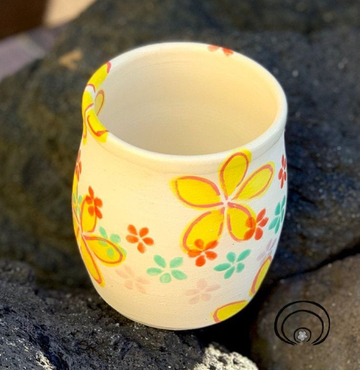 Yellow Flower Lei Cup, Tumbler