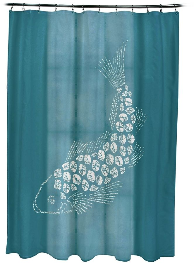 e by design Fish Pool Shower Curtain