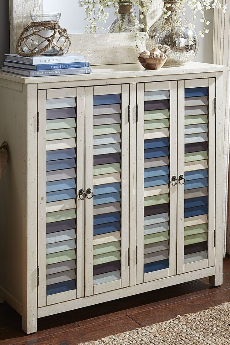 Country Cottage Meets Seaside Retreat In The Fun And Versatile East Bay  Cabinet From Pier Mismatched Louvre Doors With Metal Ring Pulls Mimic The  Look Of ... Part 76