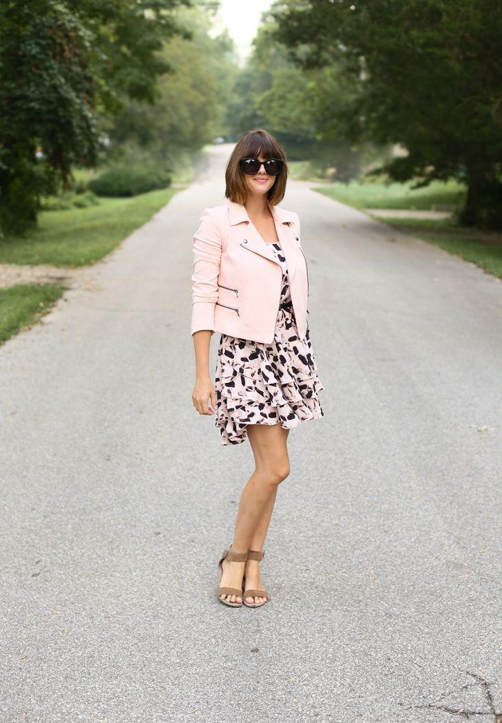 Pale Pink Moto, Half Moon Bangs, Jessica Quirk