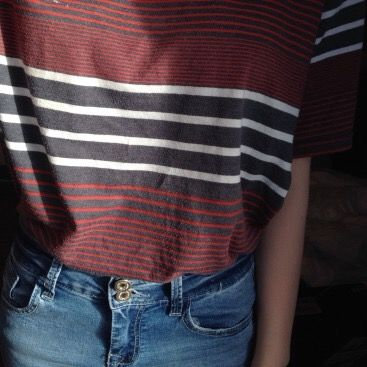 striped tee + jeans