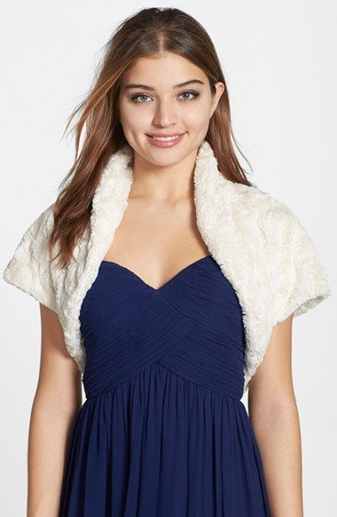 Free shipping and returns on Eliza J Faux Fur Bolero at Nordstrom.com. A deliciously soft faux-fur bolero styled with a high neckline and cap sleeves is the perfect instant-chic addition to warm up any outfit.