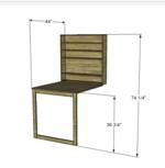 free plans woodworking resource from DesignsByStudioC - tables,wall mounted fold down,free woodworking plans,projects,diy,furniture,desks