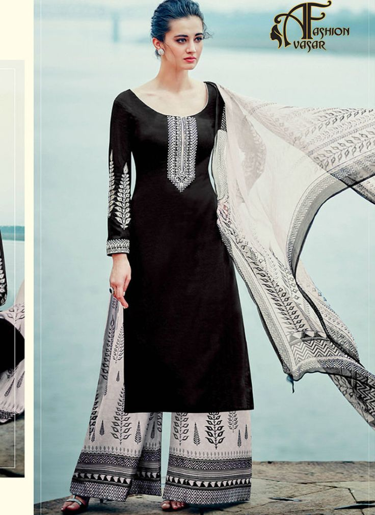 buy palazzo suits online india – buy online salwar suits straight cut cotton satin