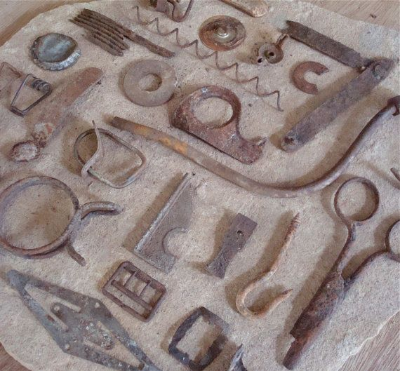 Rusty Metal Bits & Pieces Found Objects by busterbeanknows ...