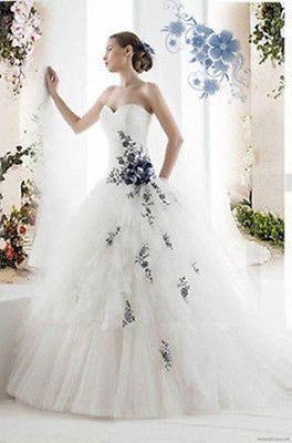 Custom black Flowers Wedding Dress Bridal Gown Deb Plus-Size&colour