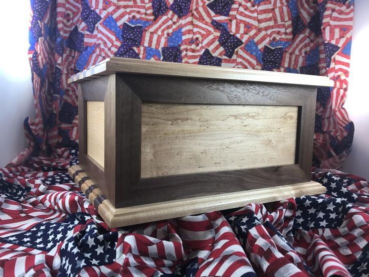 Walnut and Maple Cremation Urn by Roushwoodworking
