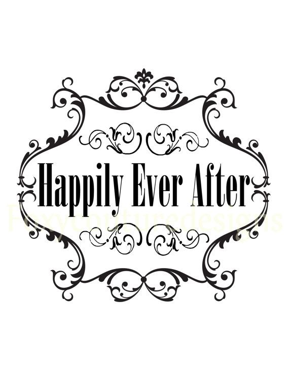 Happily Ever After Vintage Large Image Word by FoxyCoutureDesigns, $1.00