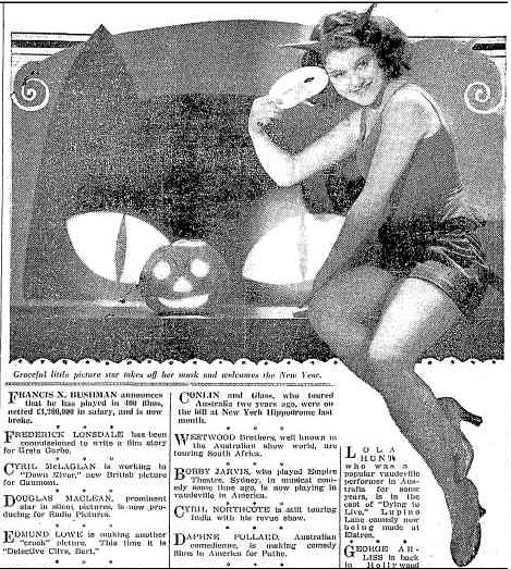 The Spirit of Halloween 1930 Referee magazine, Sydney