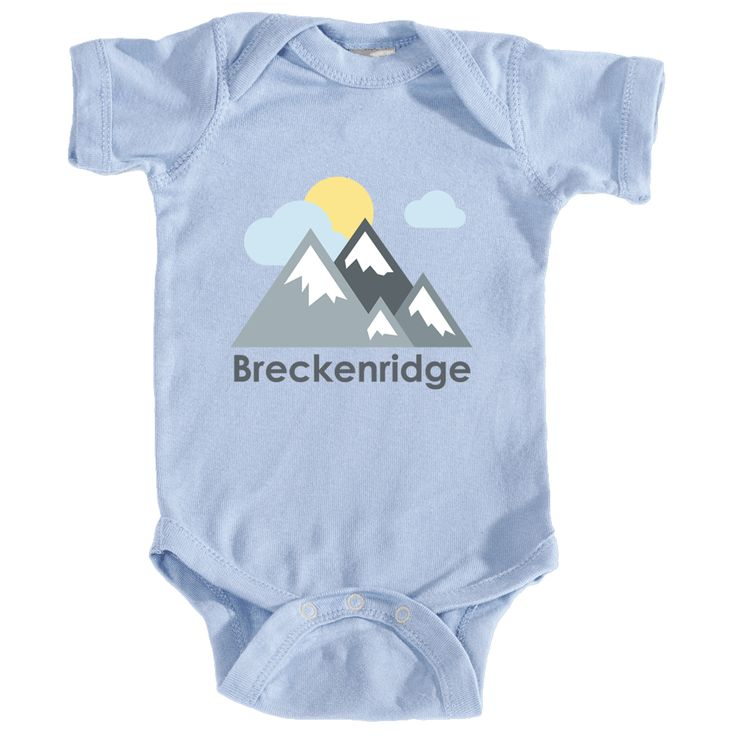 Breckenridge, Colorado Mountains and Clouds in Color - Infant Onesie/Bodysuit