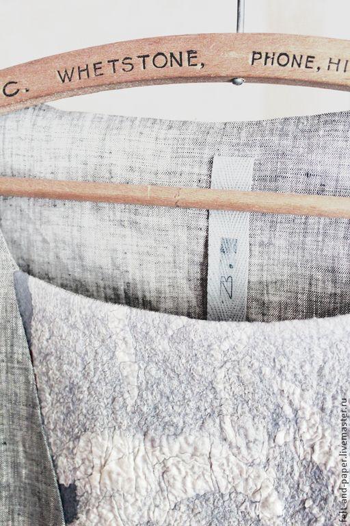 Купить Льняное платье из капсульной коллекции RabFac - серый, платье, оригинальное платье