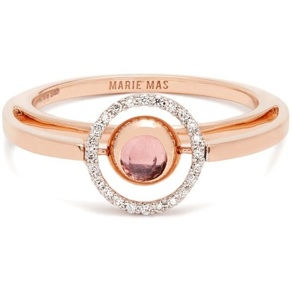 Marie Mas Diamond, amethyst, topaz & pink-gold ring (€2.695) ❤ liked on Polyvore featuring jewelry, rings, amethyst rings, pink diamond ring, pink diamond jewelry, amethyst jewelry and diamond rings