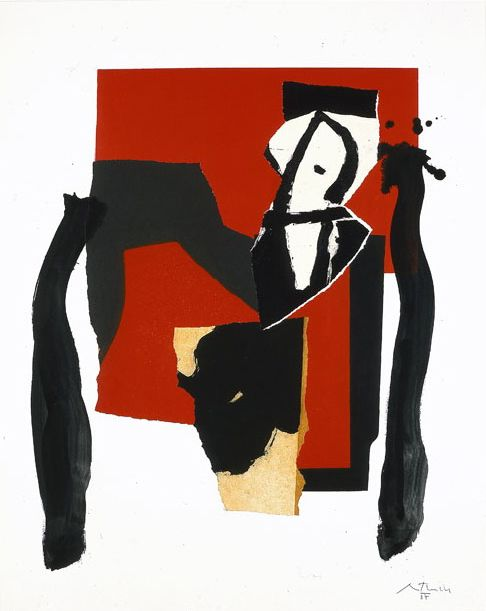 Robert Motherwell, 'The Red and the Black No. 43,' 1987, William Shearburn Gallery