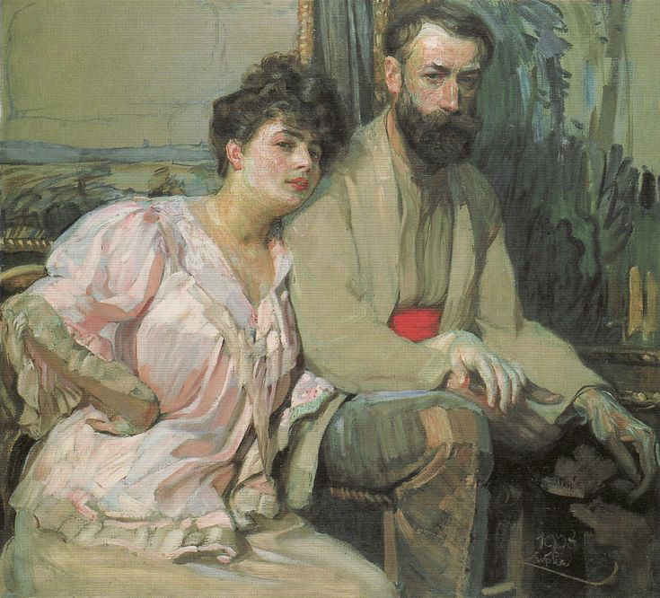 Self-Portrait with Wife, 1908  Frantisek Kupka
