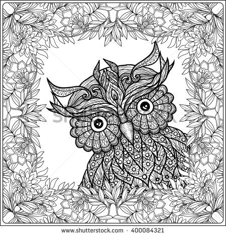 1181 Best 214 Adult Colouring Owls Birds Zentangles 214 Coloring Pages Already Colored