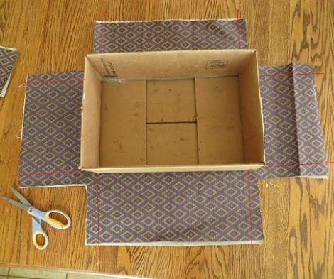 forrar cajas telas cartón                                                                                                                                                     Más