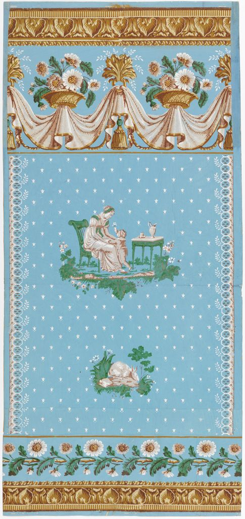 Sidewall And Border, 1810–20 Block-printed on handmade paper. Gift of Eleanor and Sarah Hewitt