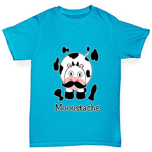Camp Clothing - Twisted Envy Boys Mooostache Moustache Cow 100 Organic Cotton TShirt *** Check out the image by visiting the link.