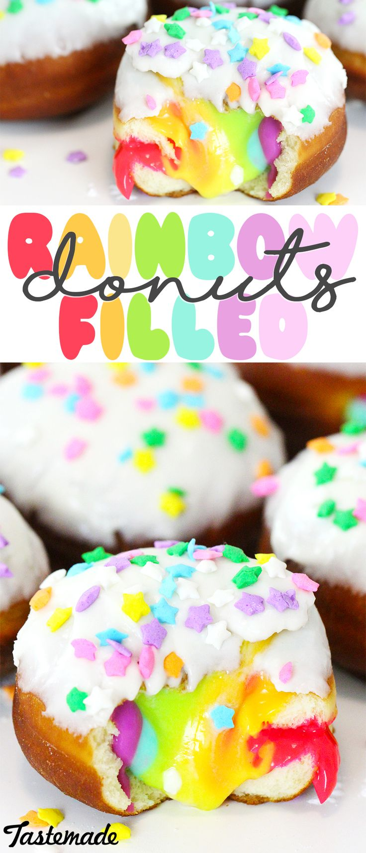 If you like vanilla cream-stuffed doughnuts, you'll love this colorful twist on a favorite.