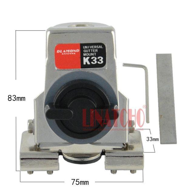 K-33 stainless steel car two way radio antenna mount bracket on