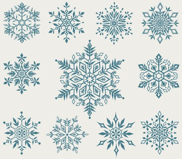 Set of Snowflake backgrounds for Christmas vector 05