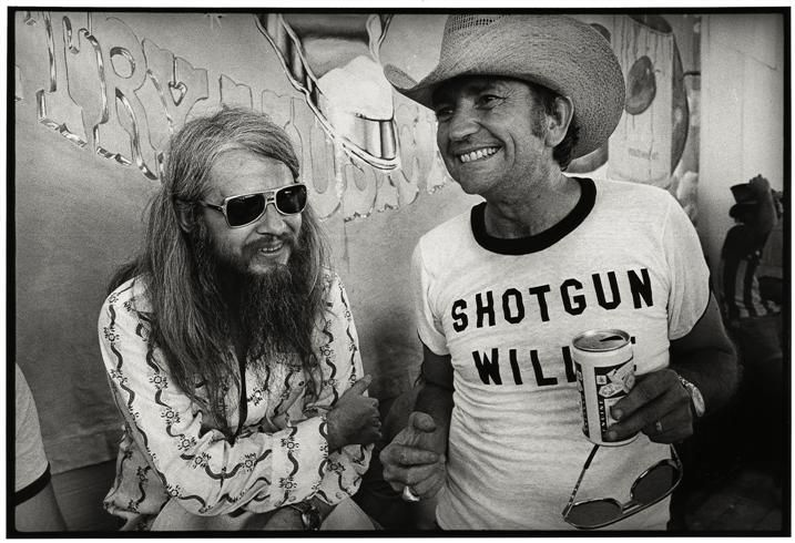 Willie Nelson and leon Russell by Jim Marshall