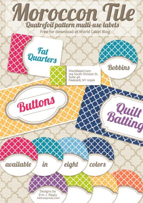 Free Editable Quatrefoil Labels Free Label Templates Printable Labels