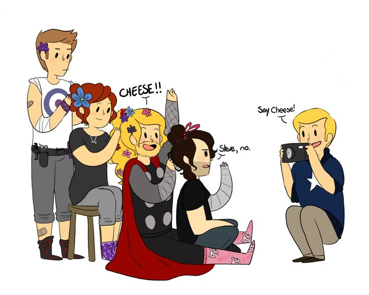just an average friday night for the avengersflowery fanart by egobuzz